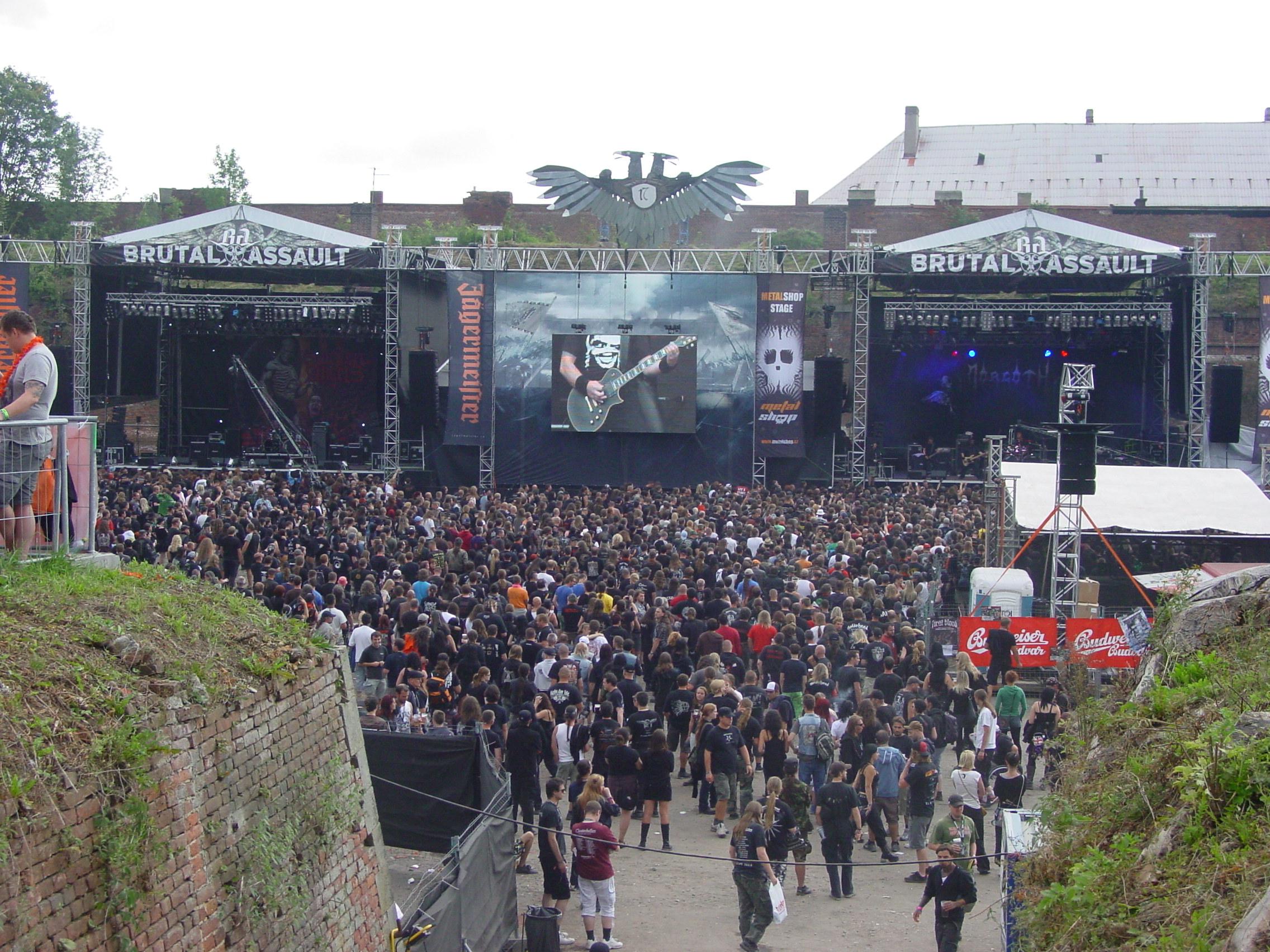 Brutal Assault 2012 main stages